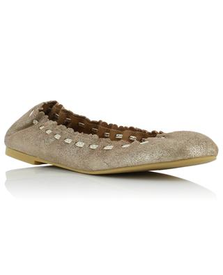 Jane golden leather ballet flats SEE BY CHLOE