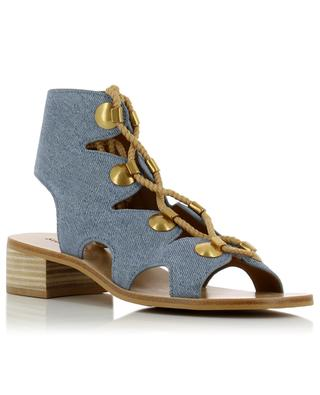 Edna printed leather sandals SEE BY CHLOE