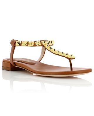 Flache Sandalen aus Leder Esme STUART WEITZMAN