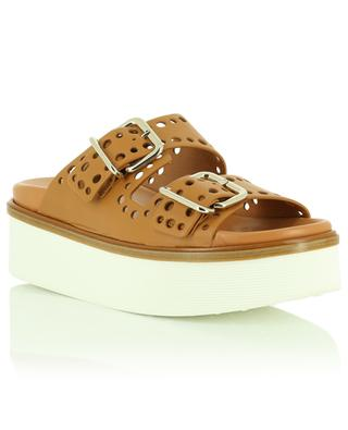 Wedge leather mules TOD'S