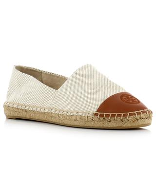 Color-Block fabric and leather espadrilles TORY BURCH