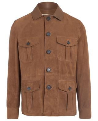 Lightweight suede and leather parka MAURIZIO BALDASSARI