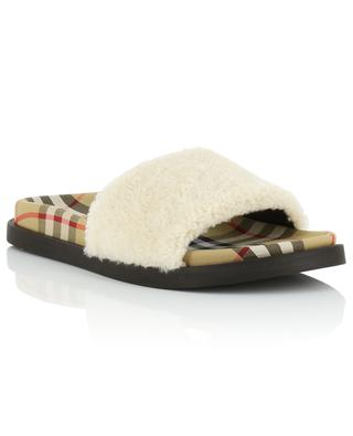 Fabric and shearling slides BURBERRY