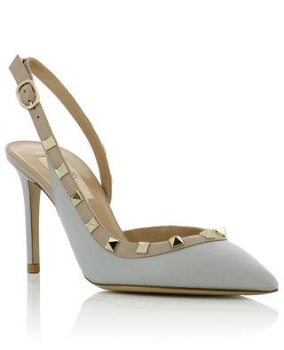 Rockstud open smooth leather pumps VALENTINO