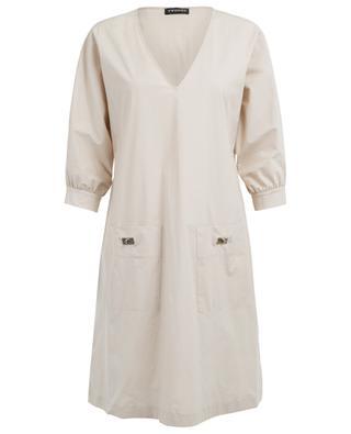 Cotton blend straight dress TWINSET