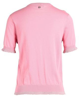 Short-sleeved ruffled cotton blend cardigan TWINSET