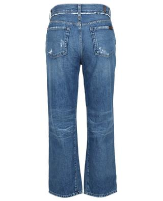 Kiki cotton skinny jeans with distressed details 7 FOR ALL MANKIND