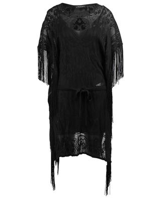 Fringed cotton blend knit dress TWINSET