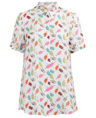 Short-sleeved viscose and silk shirt J/B
