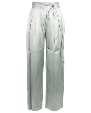 Satin straight trousers with creases FORTE FORTE