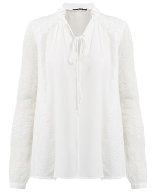 Silk and lace blouse SLY 010
