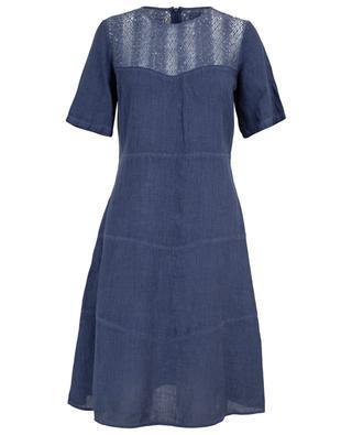 Kurzärmliges Kleid aus Leinen 120% LINO