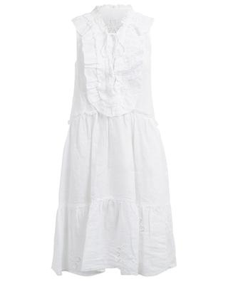 Ärmelloses Kleid aus Leinen 120% LINO