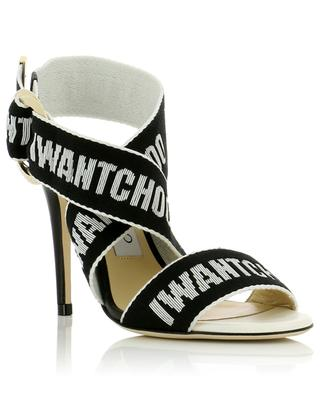 Bailey 100 leather and fabric sandals JIMMY CHOO