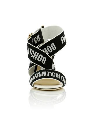 Sandalen aus Leder und Stoff Bailey 100 JIMMY CHOO
