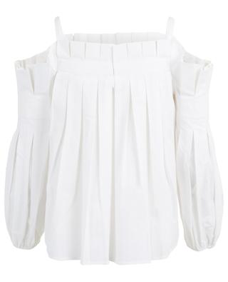 Mazarine pleated cotton blouse ANNE FONTAINE
