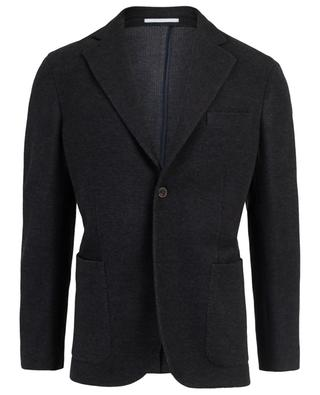 Virgin wool and cotton knit blazer BOGLIOLI
