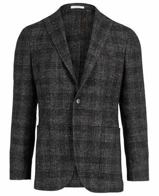 Checked alpaca wool blend blazer BOGLIOLI