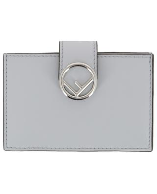 Gusseted leather card holder FENDI