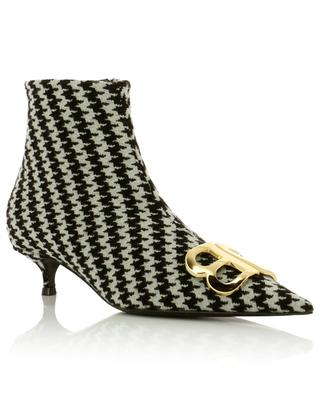 BB Houndstooth fabric ankle boots BALENCIAGA