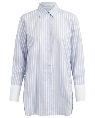 Langes gestreiftes Hemd aus Baumwolle Isamu HANA SAN