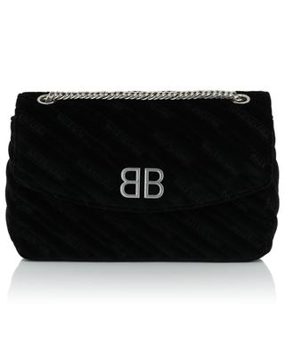 BB Round M velvet shoulder bag BALENCIAGA