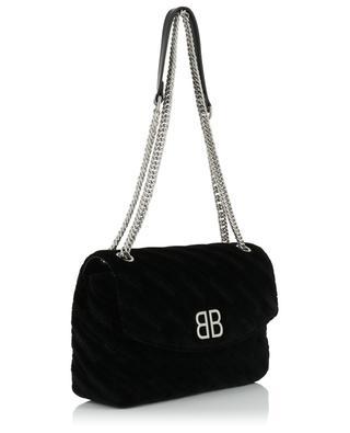 BB Round M velvet shoulder bag BALENCIAGA