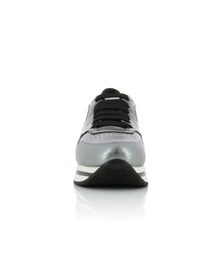 H222 silver leather wedge sneakers HOGAN