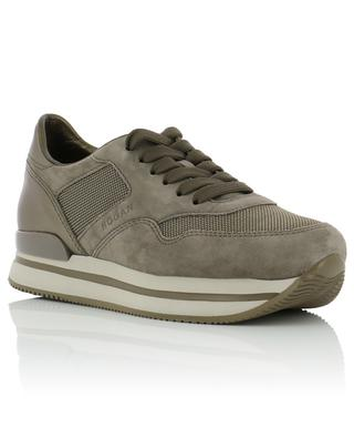 H222 fabric, suede and leather sneakers HOGAN