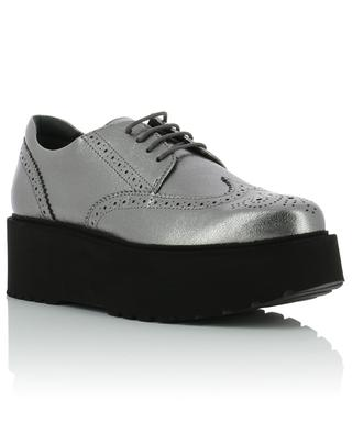 H355 wedge leather derby shoes HOGAN
