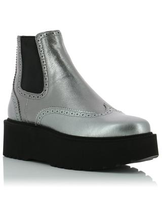 H355 leather wedge ankle boots HOGAN