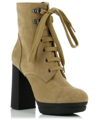H391 heeled suede ankle boots HOGAN