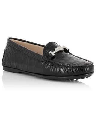 Croco effect patent leather loafers TOD'S