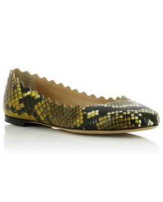 Lauren snake-effect leather ballet flats CHLOE