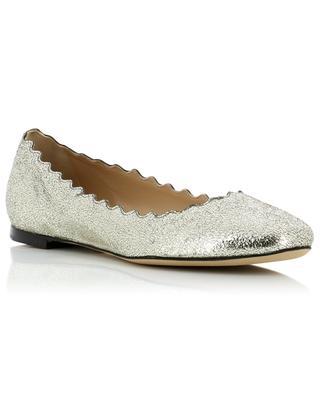 Lauren metallic leather ballet flats CHLOE