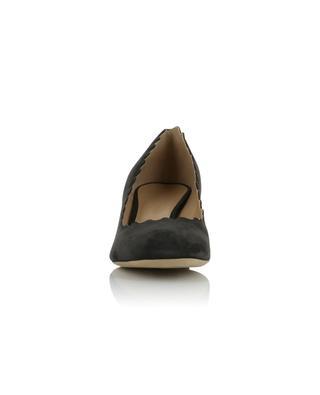 Escarpins à petit talon carré en daim Lauren CHLOE