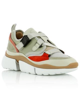 Sneakers aus Segeltuch und Wildleder Sonnie CHLOE
