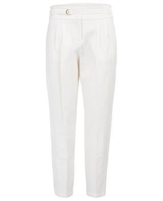 Pantalon droit en lin et coton mélangés PABLO