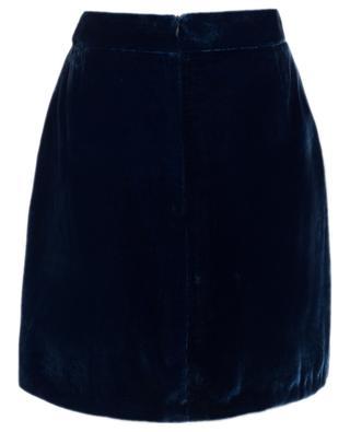 Chalk Hill velvet short skirt EZGI CINAR