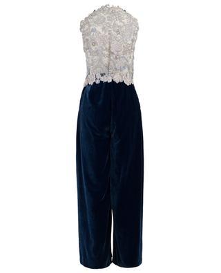 Holly Blue velvet jumpsuit EZGI CINAR
