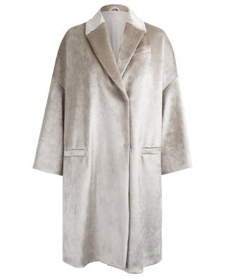 Langer Mantel aus Samt BRUNELLO CUCINELLI