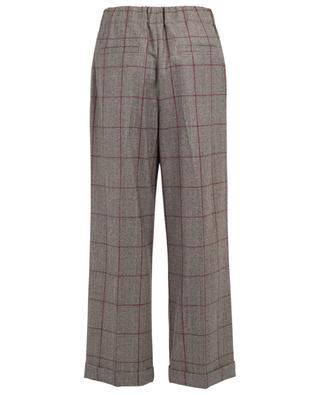 Pantalon large raccourci en laine BRUNELLO CUCINELLI