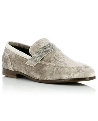 Mocassins en velours BRUNELLO CUCINELLI