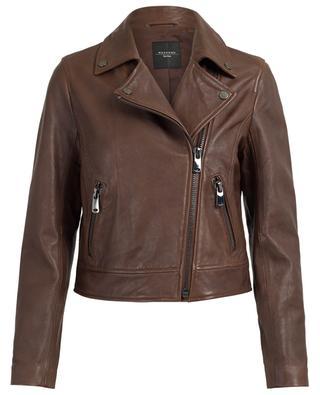 Zucca lambskin biker jacket WEEKEND MAXMARA