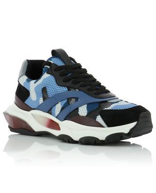 Sneakers aus Segeltuch und Wildleder Camouflage Bounce Trainer VALENTINO