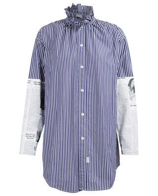 Newspaper Patch striped cotton shirt BALENCIAGA