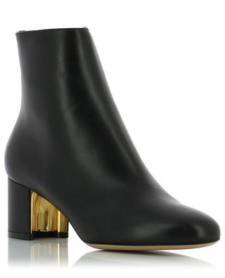 Hollow heel leather ankle boots SALVATORE FERRAGAMO