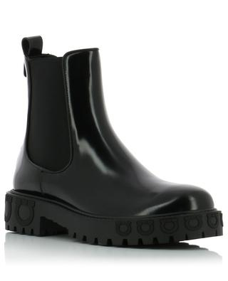 Gancini patent leather ankle boots SALVATORE FERRAGAMO