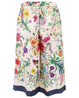 Culotte-Hose aus bedruckter Seide GUCCI