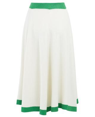 Viscose blend midi-length knit skirt GUCCI